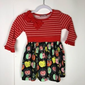 Jelly The Pug Dress Girls 2T Toddler Long Sleeves